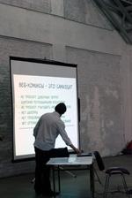 Фотография с КомМиссии 2009: Лекция о веб-комиксах.